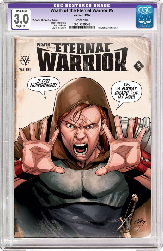 Wrath of the Eternal Warrior #5 (CGC Replica Henry Cover)