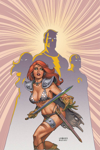 Red Sonja: The Superpowers #1 (Linsner Virgin Cover)