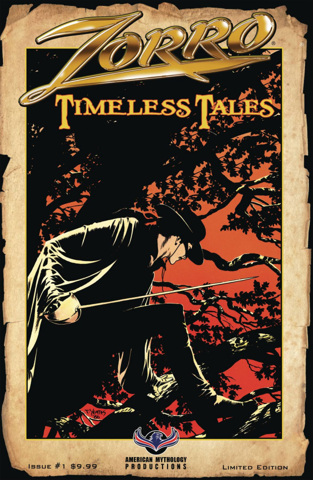 Zorro: Timeless Tales #1 (Pulp Cover)