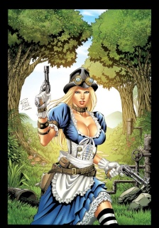 Grimm Fairy Tales: Steampunk Alice in Wonderland (Rei Cover)