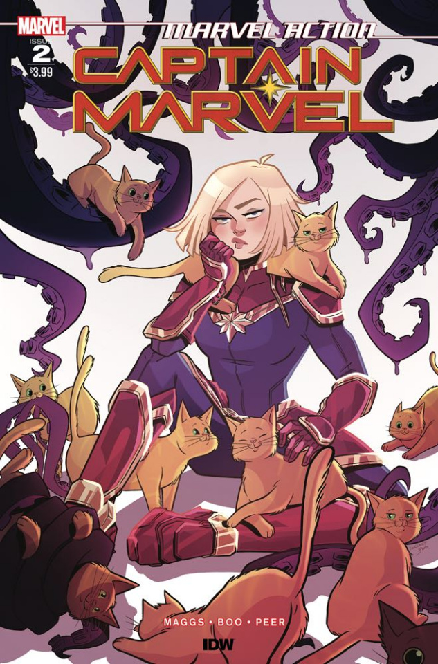 Marvel Action: Captain Marvel #2 (Boo Cover)