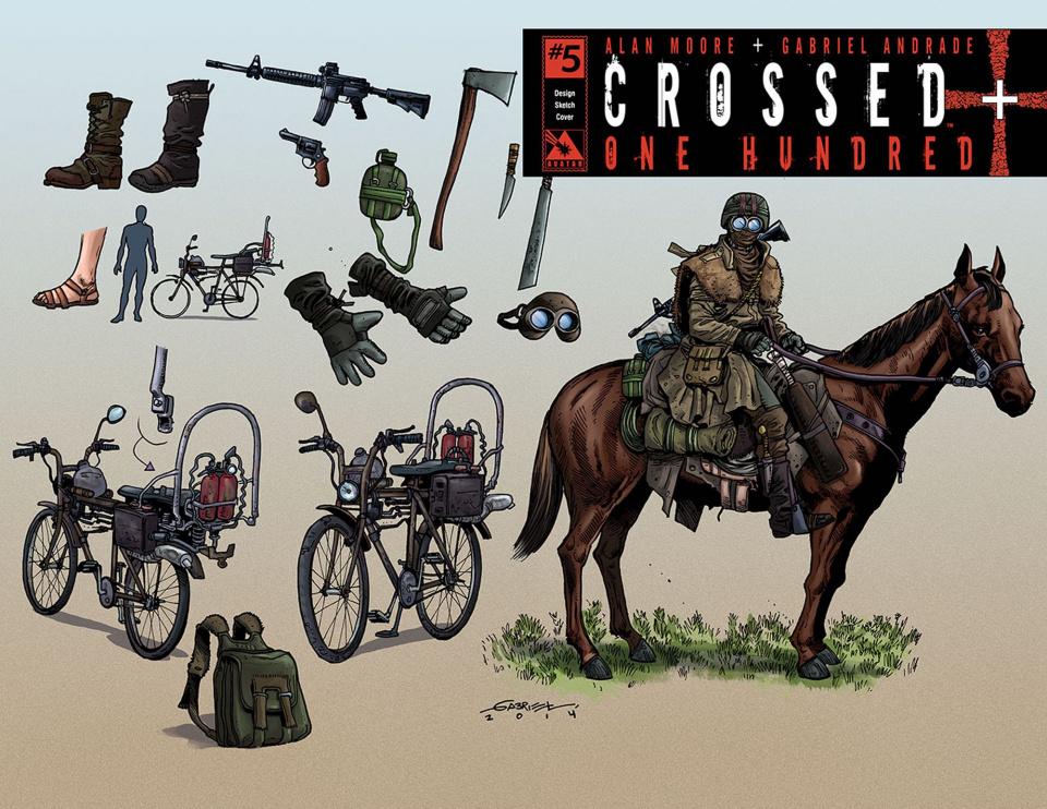 Crossed + One Hundred #5 (Design Sketch Cover)
