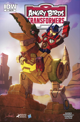 Angry Birds / Transformers #1 (Subscription Cover)
