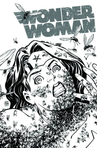 Wonder Woman #16 (Black & White Cover)