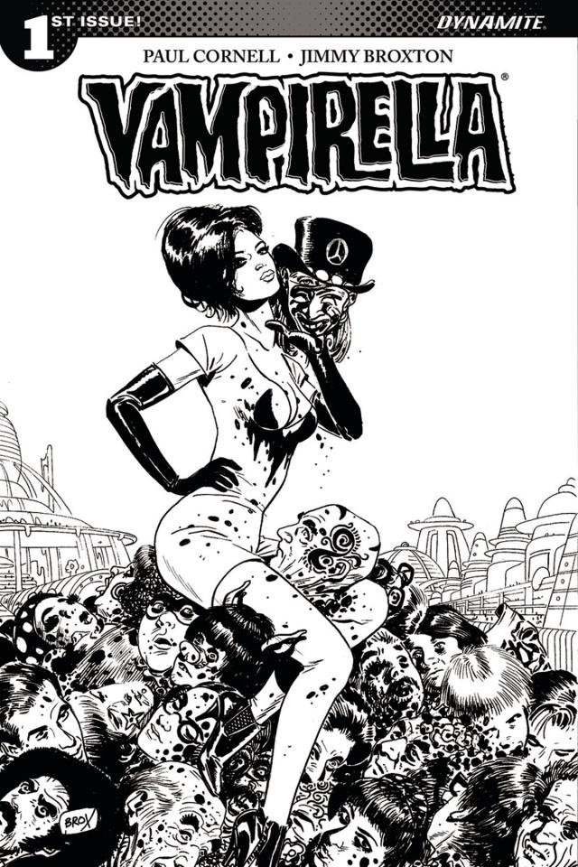 Vampirella #1 (10 Copy Broxton B&W Cover)