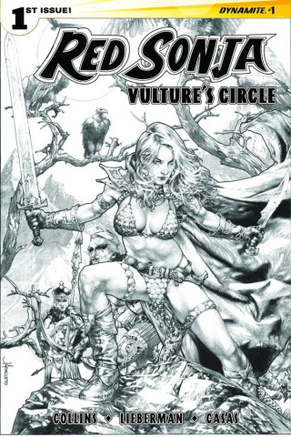 Red Sonja: Vulture's Circle #1 (10 Copy Anacleto B&W Cover)
