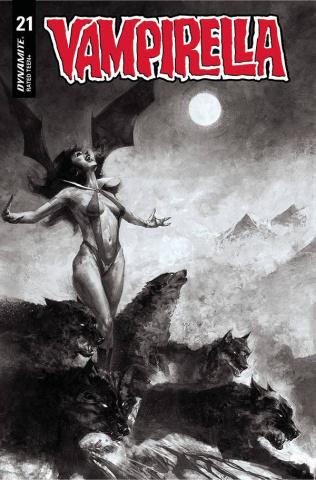 Vampirella #21 (40 Copy Mastrazzo B&W Cover)