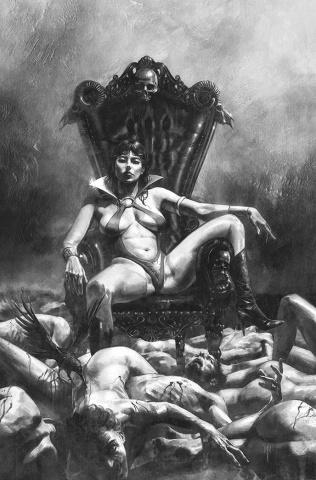 Vampirella #18 (25 Copy Mastrazzo B&W Virgin Cover)