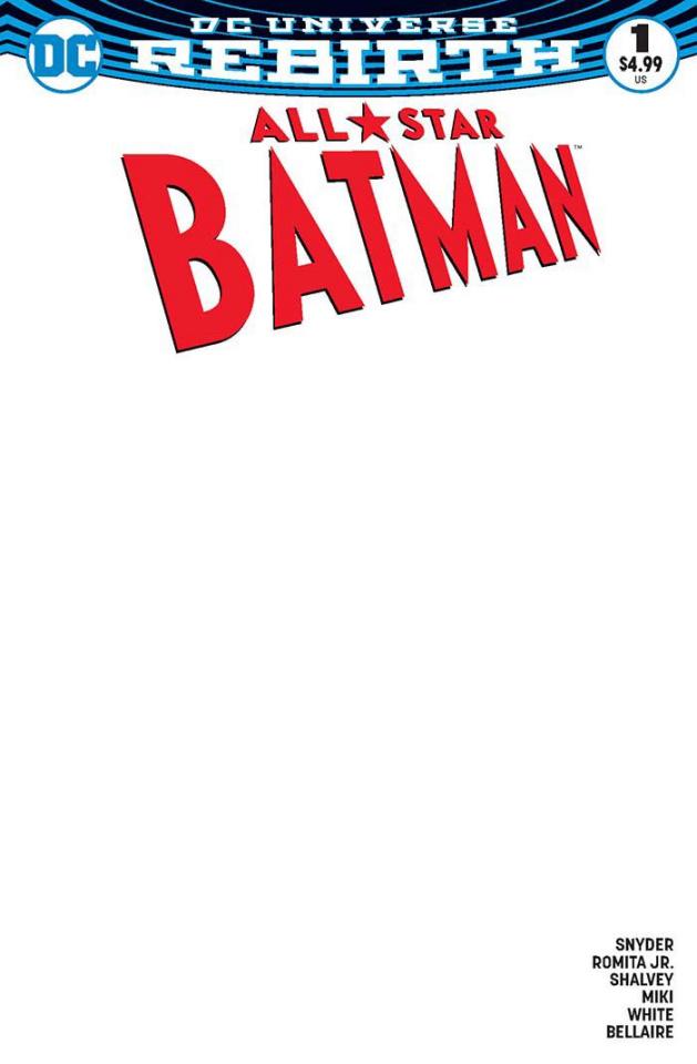 All-Star Batman #1 (Blank Cover)