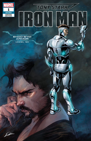 Tony Stark: Iron Man #1 (Superior Iron Man Armor Cover)