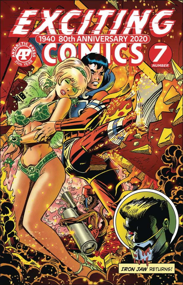 Exciting Comics #7 (Crimebuster Backdraft Cover)