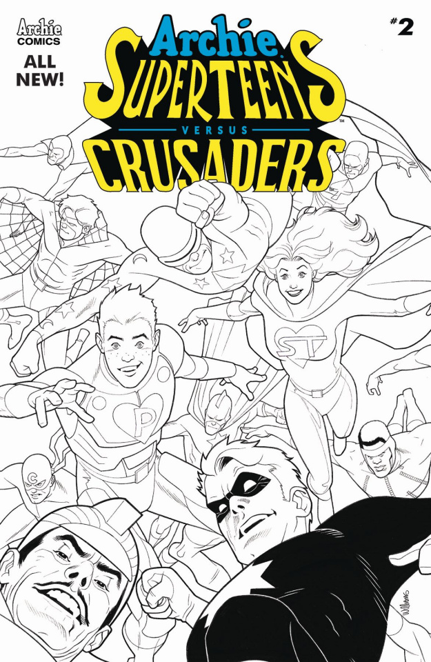 Archie's Superteens vs. Crusaders #2 (Dave Williams B&W Cover)