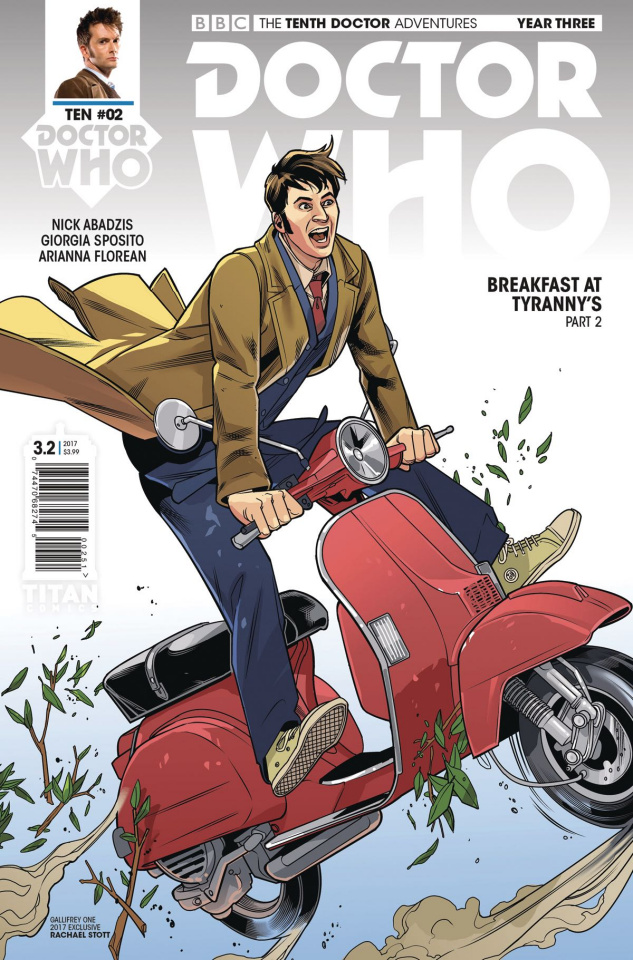 Doctor Who: New Adventures with the Tenth Doctor, Year Three #2 (Gallifrey Cover)