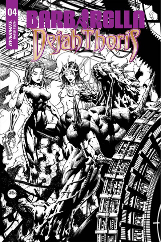 Barbarella / Dejah Thoris #4 (40 Copy Hsieh B&W Cover)
