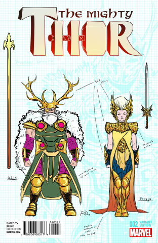 The Mighty Thor #2 (Dauterman Design Cover)