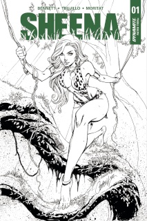 Sheena #1 (30 Copy Campbell B&W Cover)