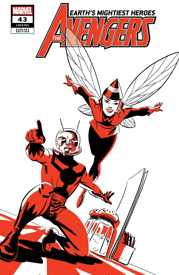 Avengers #43 (Ant-Man and Wasp Two-Tone Cover)