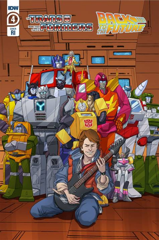 The Transformers / Back to the Future #4 (10 Copy Schoening Cover)