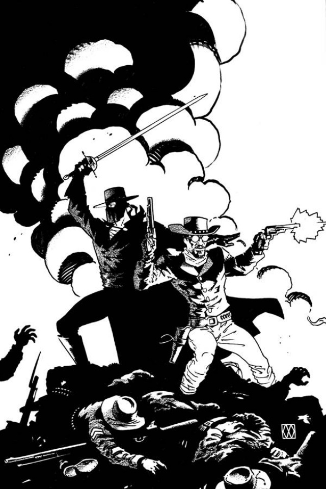 Django / Zorro #7 (15 Copy Wagner B&W Cover)