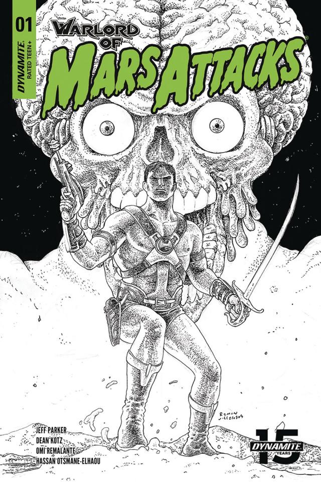 Warlord of Mars Attacks #1 (40 Copy Villalobos B&W Cover)