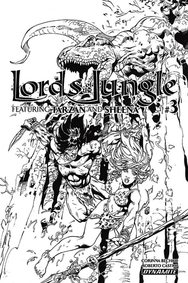 Lords of the Jungle #3 (10 Copy Castro B&W Cover)