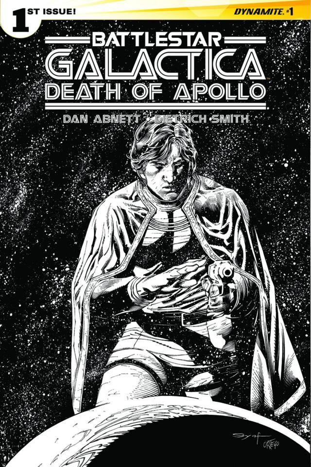 Battlestar Galactica: Death of Apollo #1 (20 Copy Syaf B&W Cover)