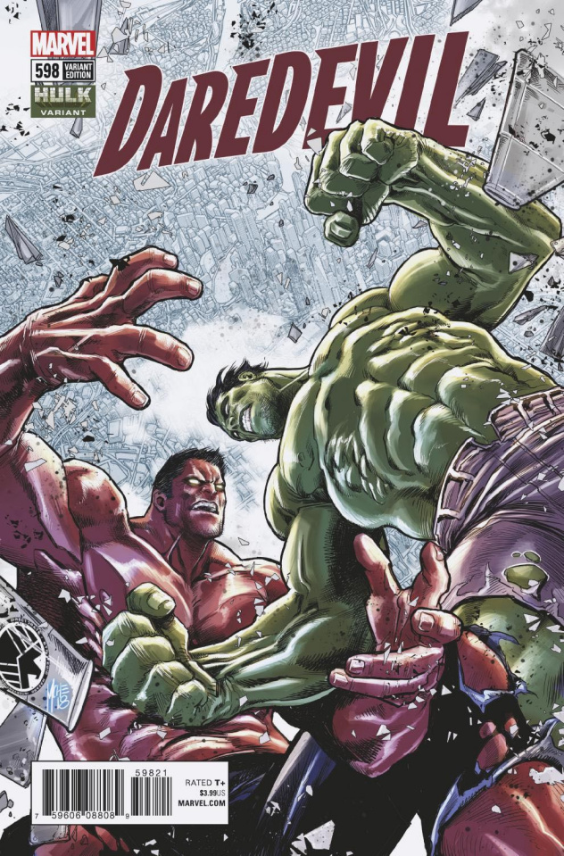 Daredevil #598 (Checchetto Hulk Cover)