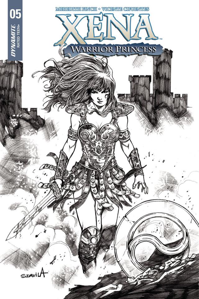 Xena #5 (25 Copy Davila B&W Cover)