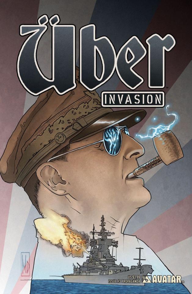 Über: Invasion #3 (Propaganda Poster Cover)