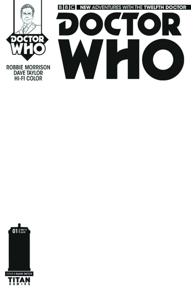 Doctor Who: New Adventures with the Twelfth Doctor #1 (Blank Sketch Cover)