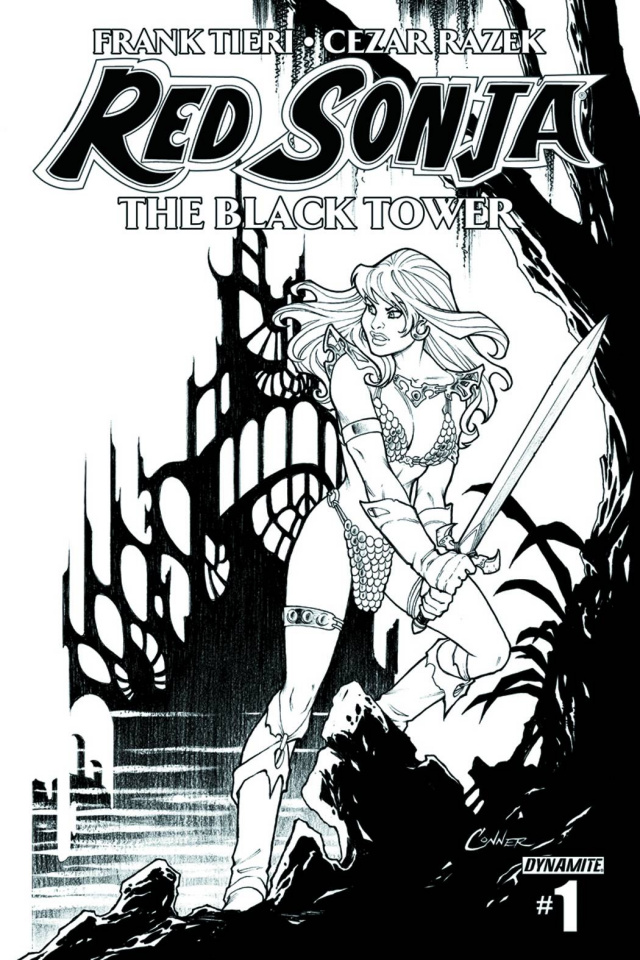 Red Sonja: The Black Tower #1 (10 Copy Conner B&W Cover)
