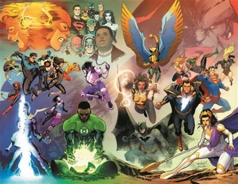 Justice League #59 (David Marquez Wraparound Cover)