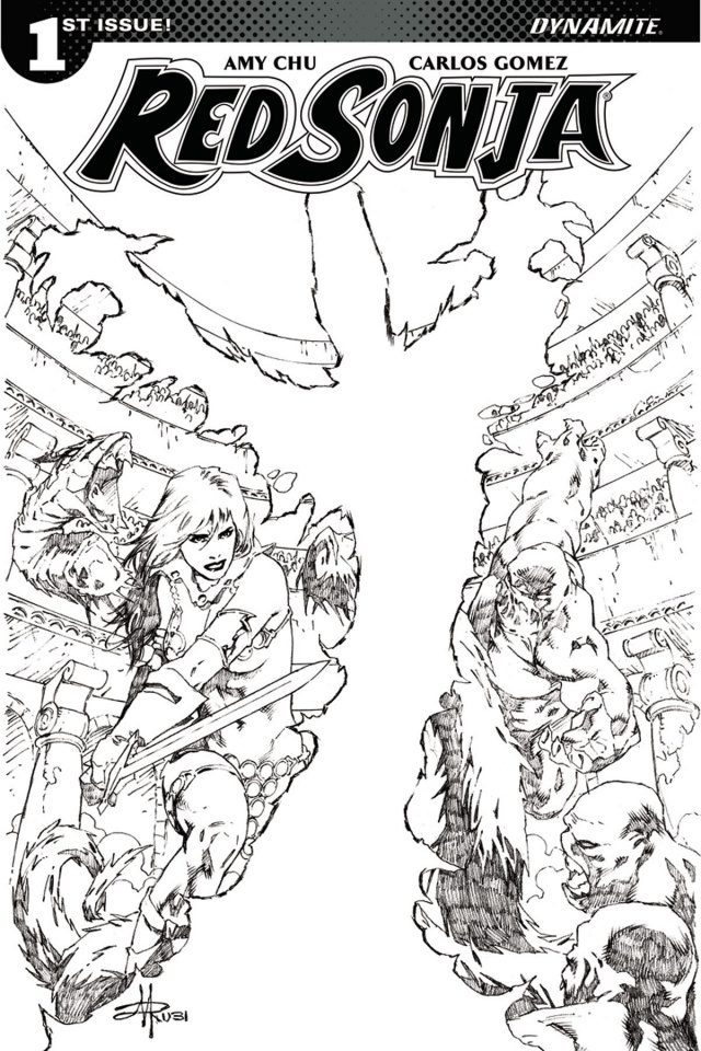 Red Sonja #1 (30 Copy Rubi B&W Cover)