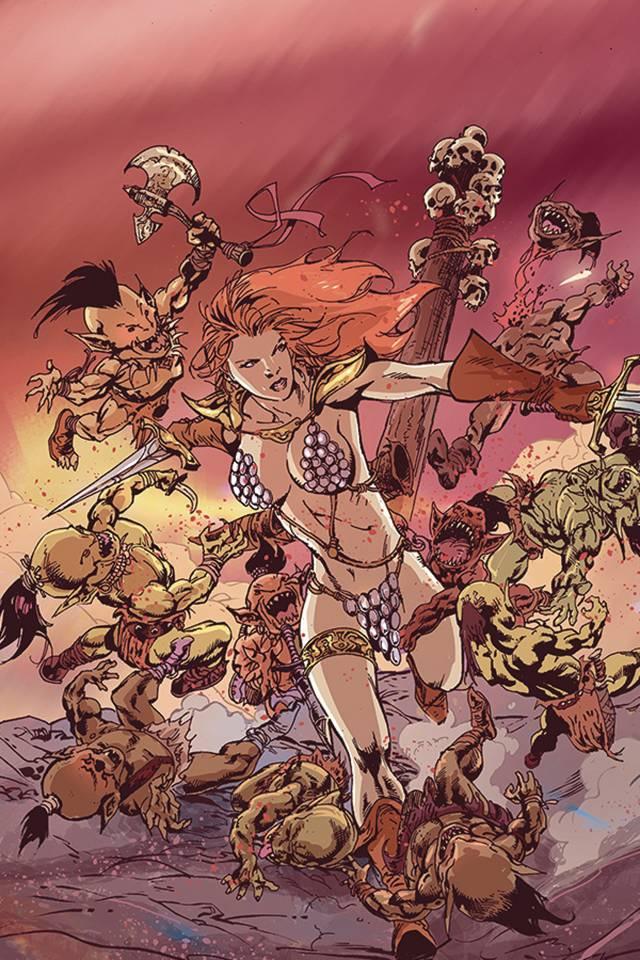 Red Sonja #17 (15 Copy Cosplay Virgin Cover)