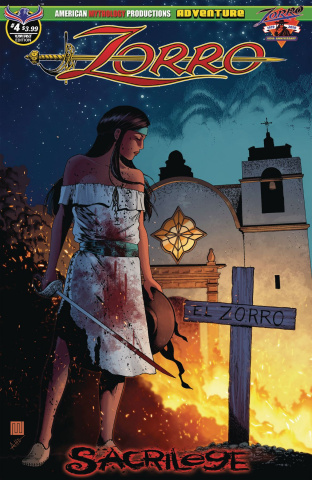 Zorro: Sacrilege #4 (Hilinski Possession Cover)