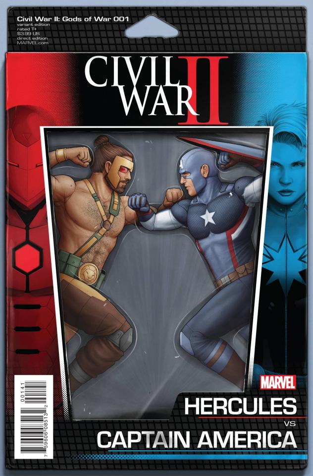 Civil War II: Gods of War #1 (Christopher Action Figure Cover)