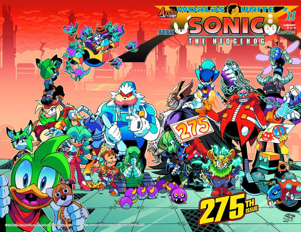 Sonic the Hedgehog #275 (Wells Wraparound Cover)