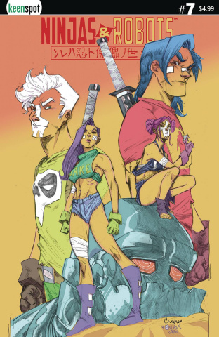 Ninjas & Robots #7 (Campana Cover)