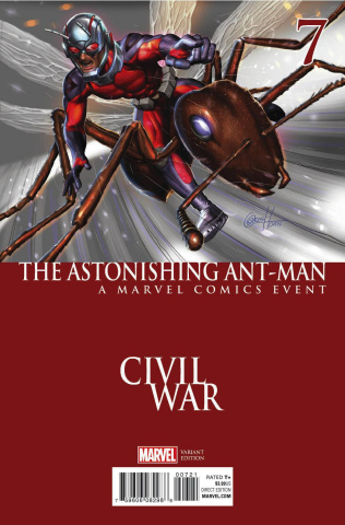 Astonishing Ant-Man #7 (Horn Civil War Cover)
