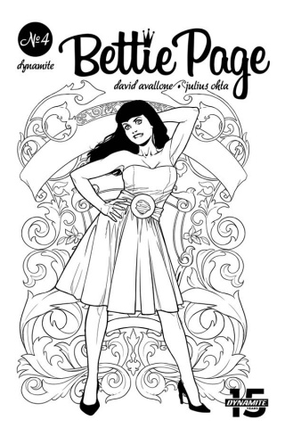 Bettie Page #4 (40 Copy Ohta B&W Cover)