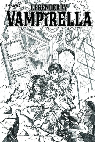 Legenderry: Vampirella #4 (10 Copy Davila B&W Cover)