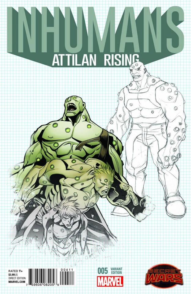 Inhumans: Attilan Rising #5 (Design Cover)