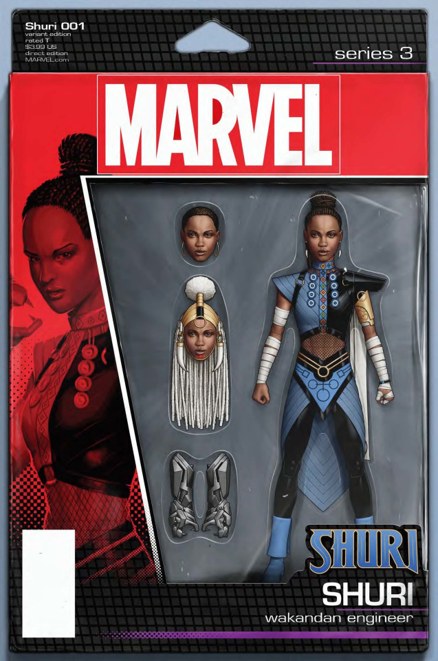 Shuri #1 (Christopher Action Figure Cover)