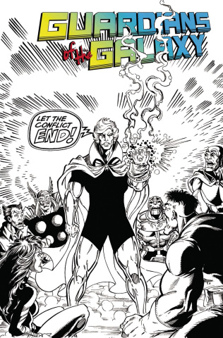 Guardians of the Galaxy #150 (Remastered Classic B&W Cover)