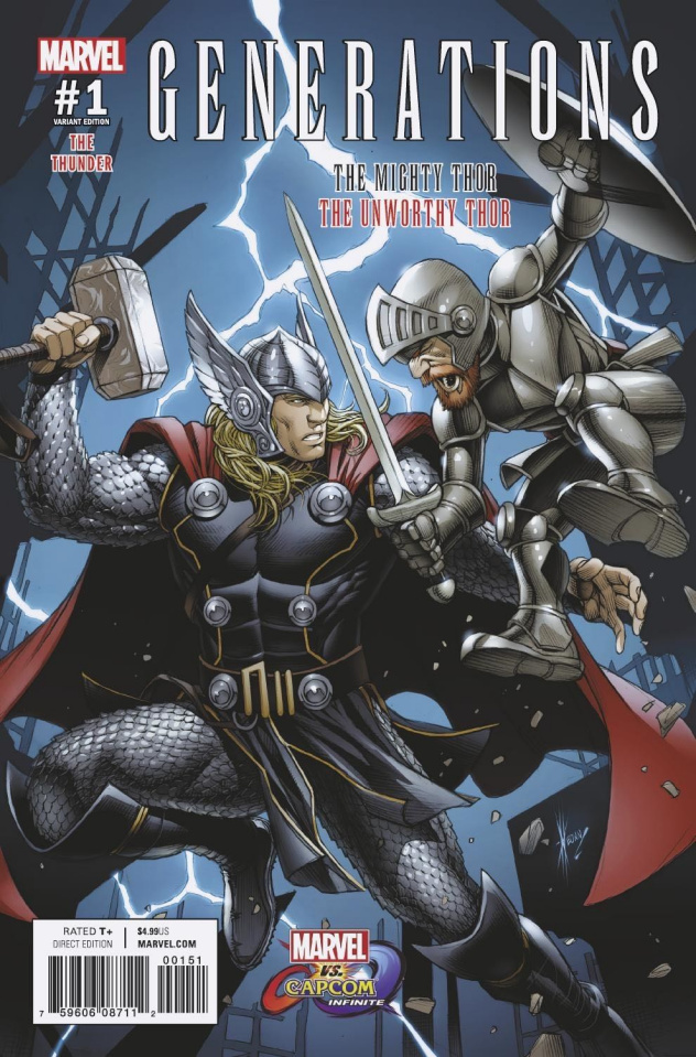 Generations: The Unworthy Thor & The Mighty Thor #1 (Marvel vs. Capcom Cover)