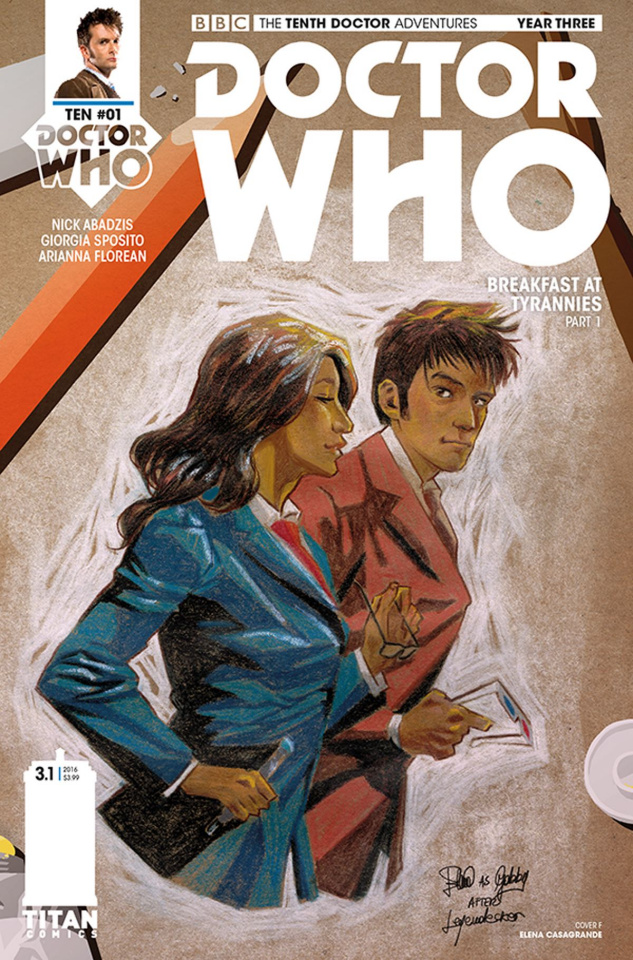 Doctor Who: New Adventures with the Tenth Doctor, Year Three #1 (Casagrande Cover)