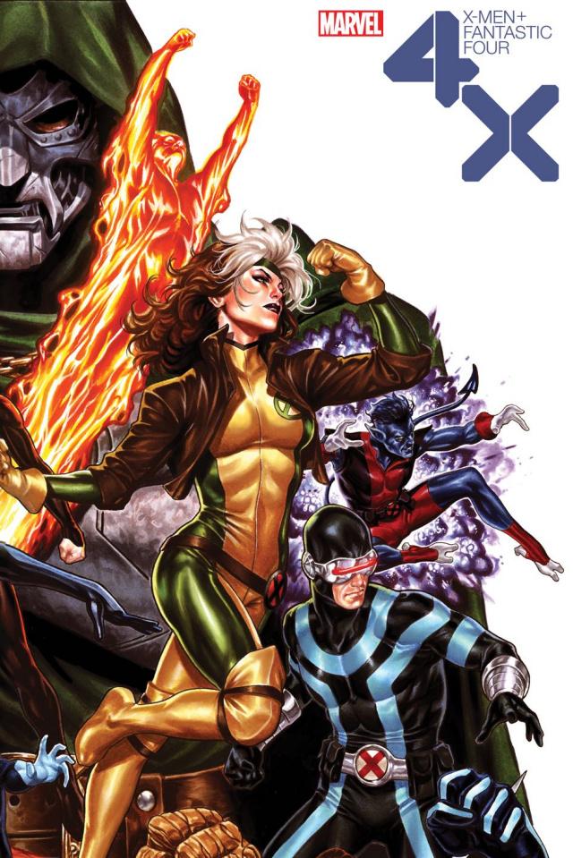 X-Men + Fantastic Four #2 (Brooks Cover)