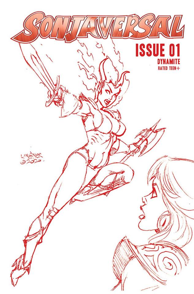 Sonjaversal #1 (Linsner Crimson Red Line Art Cover)