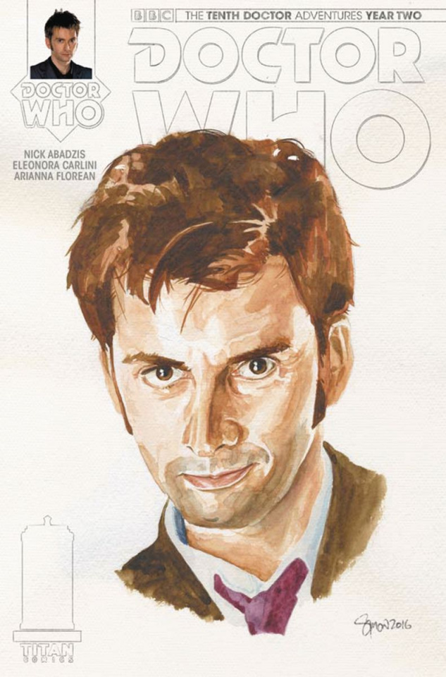 Doctor Who: New Adventures with the Tenth Doctor, Year Two #14 (Myers Cover)