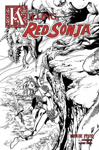 Killing Red Sonja #5 (7 Copy Castro B&W Cover)